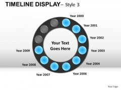 Business Timeline Display 3 PowerPoint Slides And Ppt Diagram Templates