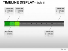 Business Timeline Display 5 PowerPoint Slides And Ppt Diagram Templates