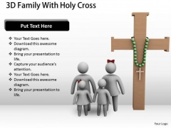 Business Unit Strategy 3d Family With Holy Cross Concept