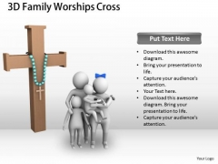 Business Unit Strategy 3d Family Worships Cross Concept