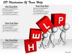 Business Unit Strategy 3d Illustration Of Team Help Concept