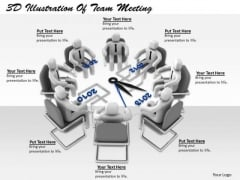 Business Unit Strategy 3d Illustration Of Team Meeting Concept