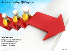 Business Unit Strategy 3d Men On Steps Of Progress Character Modeling