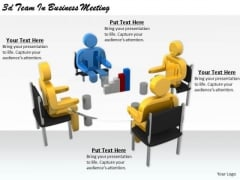 Business Unit Strategy 3d Team Meeting Characters
