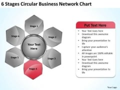 Business Unit Strategy 6 Stages Circular Network Chart Process