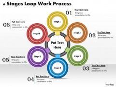 Business Unit Strategy 6 Stages Loop Work Process Strategic Planning Ppt Slide