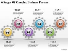 Business Unit Strategy 6 Stages Of Complex Process Strategic Planning Ppt Slide