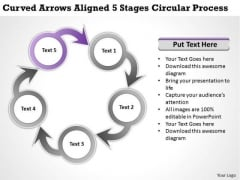 Business Unit Strategy Arrows Aligned 5 Stages Circular Process Ppt Consulting