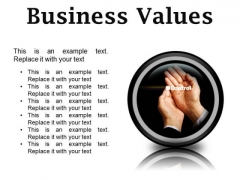 Business Values Success PowerPoint Presentation Slides Cc