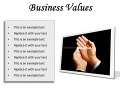 Business Values Success PowerPoint Presentation Slides F