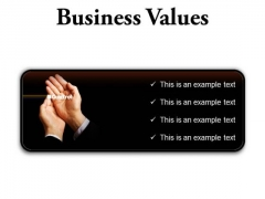 Business Values Success PowerPoint Presentation Slides R