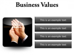 Business Values Success PowerPoint Presentation Slides S