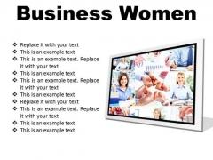 Business Women Success PowerPoint Presentation Slides F