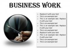 Business Work Success PowerPoint Presentation Slides C