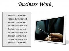 Business Work Success PowerPoint Presentation Slides F