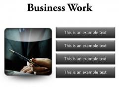 Business Work Success PowerPoint Presentation Slides S