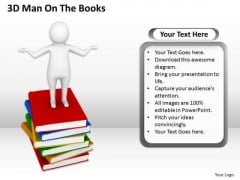 Business Workflow Diagram 3d Man On The Books PowerPoint Slides