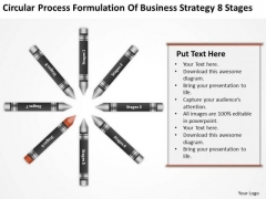 Business Workflow Diagram Formulation Of Strategy 8 Stages Ppt PowerPoint Template