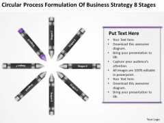 Business Workflow Diagram Formulation Of Strategy 8 Stages Ppt PowerPoint Templates