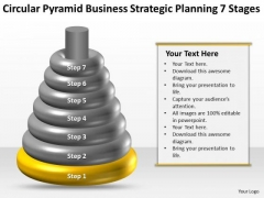 Business Workflow Diagram Pyramid Strategic Planning 7 Stages PowerPoint Templates