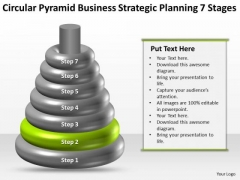 Business Workflow Diagram Pyramid Strategic Planning 7 Stages Ppt PowerPoint Templates