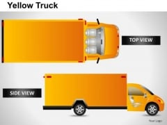Business Yellow Truck PowerPoint Slides And Ppt Diagram Templates