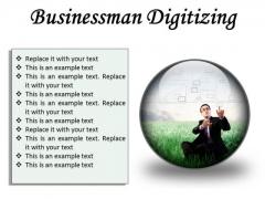 Businessman Digitizing Business PowerPoint Presentation Slides C