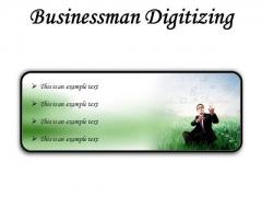 Businessman Digitizing Business PowerPoint Presentation Slides R