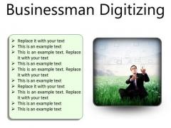 Businessman Digitizing Business PowerPoint Presentation Slides S