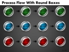 Buttons Icons Process Stages Editable PowerPoint Slides