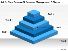 By Step Process Of Business Management 5 Stages Ppt Plan PowerPoint Slides
