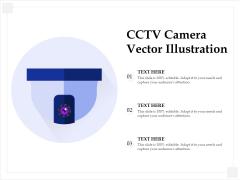 CCTV Camera Vector Illustration Ppt PowerPoint Presentation File Maker