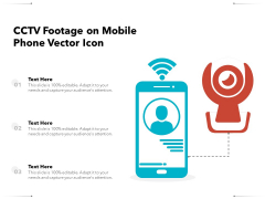 CCTV Footage On Mobile Phone Vector Icon Ppt PowerPoint Presentation Gallery Professional PDF