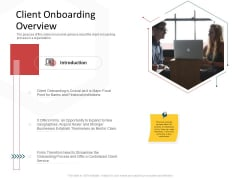 CDD Process Client Onboarding Overview Ppt Show Slide PDF