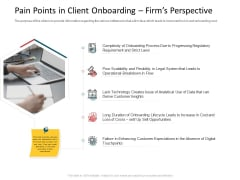 CDD Process Pain Points In Client Onboarding Firms Perspective Professional PDF