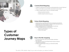CDJ Types Of Customer Journey Maps Ppt Infographic Template Graphics PDF