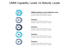 CMMI Capability Levels Vs Maturity Levels Ppt PowerPoint Presentation Outline Templates Cpb Pdf