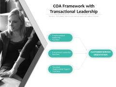 COA Framework With Transactional Leadership Ppt PowerPoint Presentation Show Examples