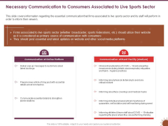 COVID 19 Effect Risk Management Strategies Necessary Communication Consumers Associated Live Sports Sector Designs PDF