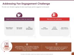 COVID 19 Effect Risk Management Strategies Sports Addressing Fan Engagement Challenge Elements PDF