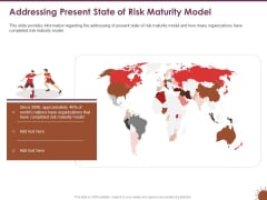 COVID 19 Effect Risk Management Strategies Sports Addressing Present State Of Risk Maturity Model Infographics PDF