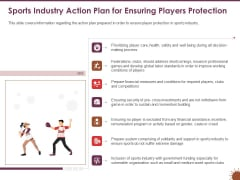 COVID 19 Effect Risk Management Strategies Sports Industry Action Plan Ensuring Players Protection Structure PDF
