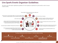 COVID 19 Effect Risk Management Strategies Sports Live Sports Events Organizer Guidelines Clipart PDF