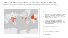 COVID 19 Measures Taken By The E Commerce Industry Ppt Professional Portrait PDF