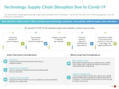 COVID 19 Mitigating Impact On High Tech Industry Technology Supply Chain Disruption Due To COVID 19 Information PDF