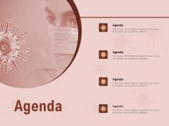 COVID 19 Pandemic Disease Agenda Graphics PDF