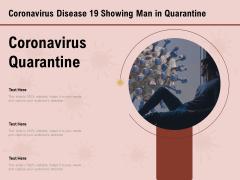 COVID 19 Pandemic Disease Coronavirus Disease 19 Showing Man In Quarantine Brochure PDF