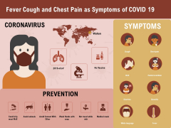 COVID 19 Pandemic Disease Fever Cough And Chest Pain As Symptoms Of Covid 19 Structure PDF