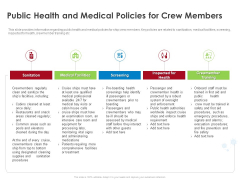 COVID 19 Risk Analysis Mitigation Policies Ocean Liner Sector Public Health And Medical Policies For Crew Members Structure PDF