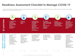 COVID 19 Risk Analysis Mitigation Policies Ocean Liner Sector Readiness Assessment Checklist To Manage COVID 19 Demonstration PDF